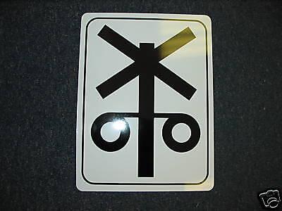 Railroad Crossing Signal Metal Sign Model Train Engine