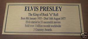 Elvis-Presley-Sublimated-Gold-Plaque