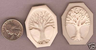 Cameo Tree of life Polymer Clay Push Mold 40x30mm