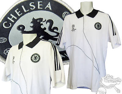 Adidas Chelsea Football Champions League Polo Shirt White / Black 46-48