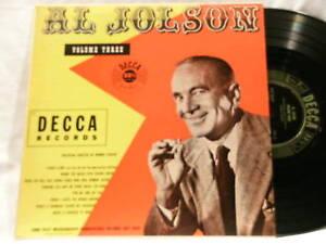 AL-JOLSON-Souvenir-Album-Vol-3-Decca-5030-10-034-dg-LP