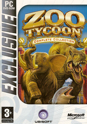 Zoo Tycoon Complete Collection 3 Games Brand Pc Xp/vista/7/8 Fast Shipping