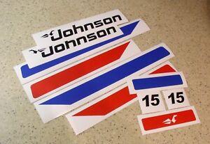 Johnson Vintage Outboard Motor 15 Decal Kit Free Ship Free