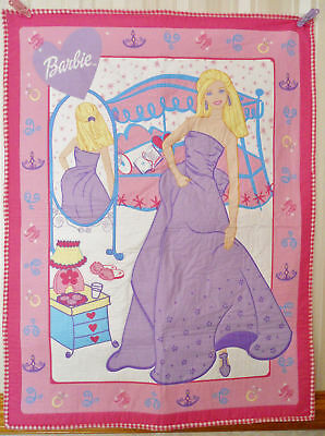 Pink Barbie Girl Handmade & Finished Quilt