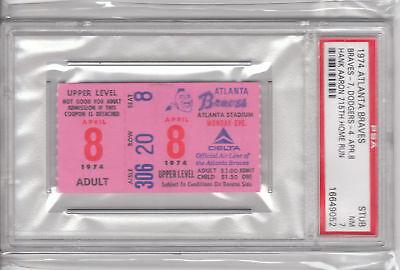 4-8-74-Hank-Aaron-715th-Home-Run-Ticket-New-HR-King-PSA-7-NM