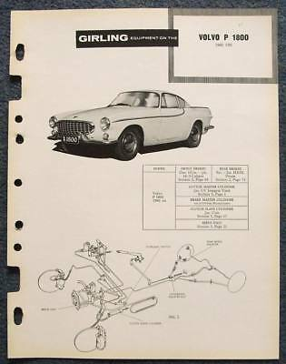 VOLVO P 1800 Sports Car GIRLING Brakes Data Guide 1960