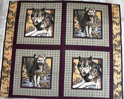 Wolf Fabric Panel Song Of Wolves 4 Pillow Panel Or Quilt Top Pack Of Wolves