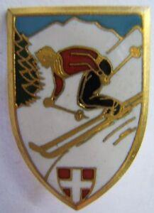 SAVOIE-insigne-ancien-de-SKI-MONTAGNE-en-email-authentique