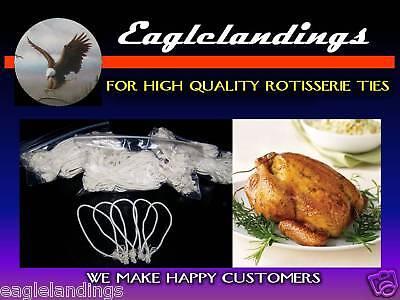 200 3 Rotisserie Chicken Poultry Elastic Ties - String