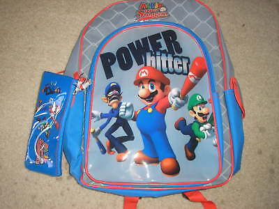 Mario Super Sluggers Backpack & Pencil Case