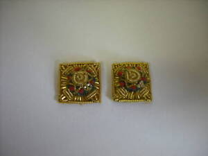 MESS DRESS PIPS, PAIR, OFFICERS RANK, ALL GOLD