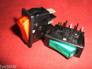 2-OFF-rete-Rocker-SWITCH-SPST-Verde-e-Rosso-Verde-Rosso