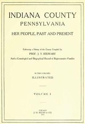 2 Vol Genealogy History Indiana County Pennsylvania PA
