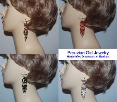 20 Dreamcatcher Earrings Dangle Peruvian Exotic Jewelry