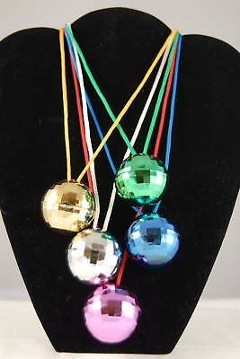 12 Disco Ball Necklaces Party Favors Fun! Wholesale!