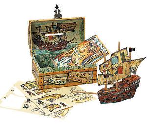 Treasure-Chest-Bank-amp-Kids-Build-Wooden-Pirate-Ship-Kit