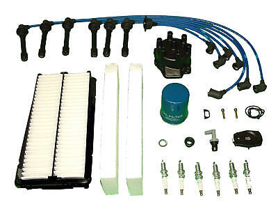 Tune Up Kit Honda Accord 1998 To 1999 V6 Ignition Cap Rotor Plugs Wires Filters