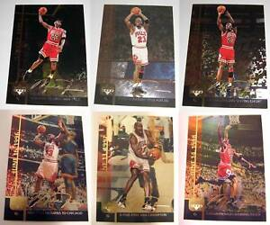 Michael Jordan Gold Signature Complete Set Lot 6 Cards