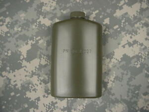 US-MILITARY-PLASTIC-1-PT-PILOT-FLASK-CANTEEN-OD-GREEN