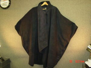 NWT-Ladies-Womens-Cape-Cloak-Coat-Black-Evening-Nice