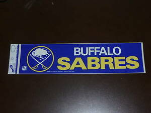 BUFFALO-SABRES-NHL-BUMPER-STICKER-VERY-COLORFUL