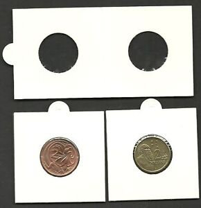 COIN-HOLDERS-2-x-2-Self-Adhesive-Holders-Size-22mm-suitable-2-amp-2c-x-50