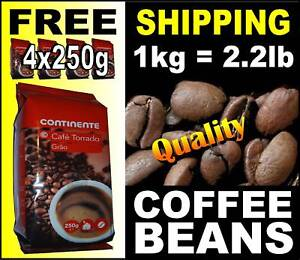 1kg Portuguese COFFEE BEANS 4x 250g packs ground pot