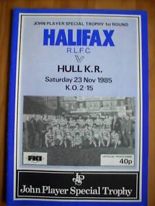 23-11-85-Halifax-v-Hull-KR-programme