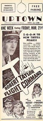 1940 VINTAGE MOVIE FLYER - FLIGHT COMMAND ROBERT TAYLOR