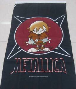 METALLICA LARGE FLAG DEATH METAL MAGNETIC   BAD ASS  FREIGHT FREE