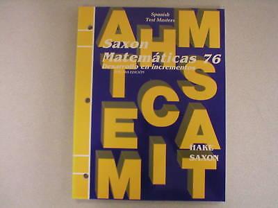 Saxon Matematicas 76 Spanish Test Masters 1565773152