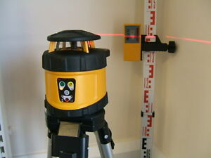 FRE-205 Premium AUTO LASER LEVEL kit  with TRIPOD & STAFF, dual grading facility