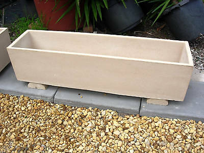 1 Rectangular Pots /planters 1200mm Length Sandstone $100-ea