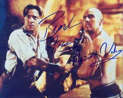 *THE MUMMY* BRENDAN FRASER SIGNED REPRINT MOVIE 8X10 COLOR AUTOGRAPHED PHOTO