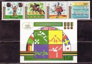 Turkmenistan-22-3-Olympics-Mint-NH