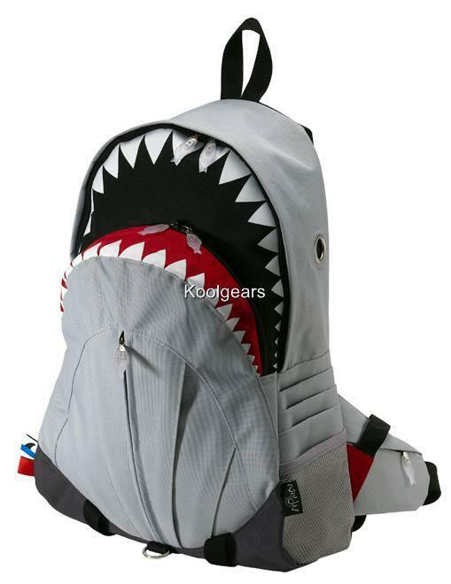 Shark Backpack Xl Morn Creations Bag Grey Week Great White