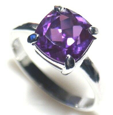 Lab Simulated Alexandrite Silver Ring Mar 152
