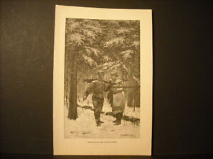 Frederic-Remington-Tracks-In-Winter-Engraving-1890