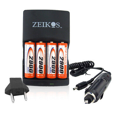 4aa Battery + Ac/dc Charger For Canon Powershot Sx130