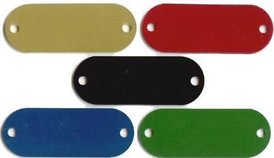 50 Rivet Silent Collar Tags Laser Engravable 3/4x2