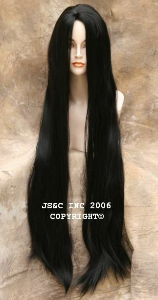 40 Long Cher Wig Wigs Off Black Skin Top Straight 1b