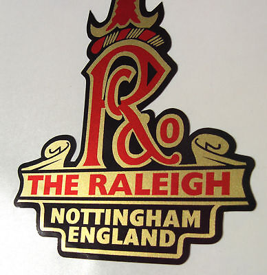 RALEIGH-Vintage-style-Cycle-Bike-GOLD-Decals-Stickers-x4