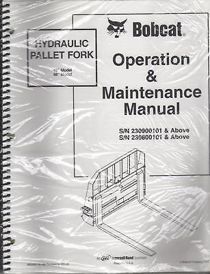 Bobcat Hydraulic Pallet Fork Operation Maint. Manual