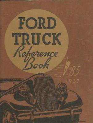 1937 Ford Truck Owner's Manual- V8