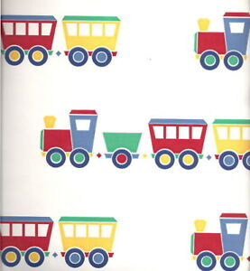 Kids Choo-Choo Train  Vinyl Wallpaper Wall Covering