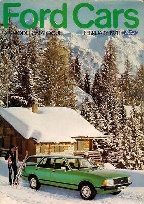 Ford Cars February 1978 UK Market Brochure Fiesta Escort Cortina Capri Granada