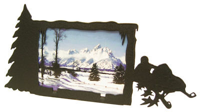Snowmobile 3x5h Black Metal Picture Frame