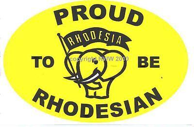 Rhodesia - Proud to be Rhodesian Sticker