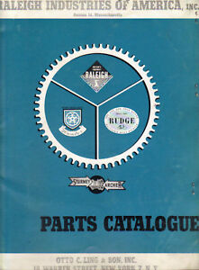 Antique-Vintage-1950s-Raleigh-Indian-Sturmey-Archer-bicycle-parts-catalogs-on-CD
