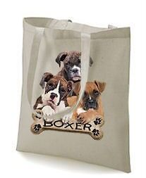 Boxer Puppy Bone Design Printed Tote Shopping Bag